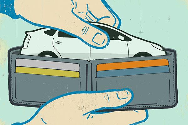 خرید قسطی بیمه شخص ثالث و پس انداز پول ماشین در کیف پول