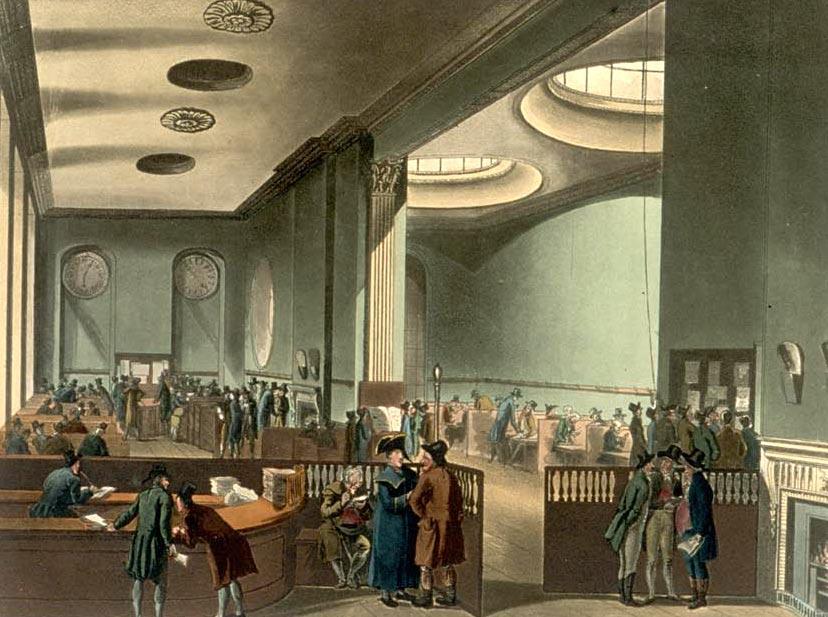 اتاق اشتراک در اوایل قرن نوزدهم